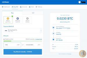 Coinbase Buy/Sell (Image: Bitcoin Investors UK)