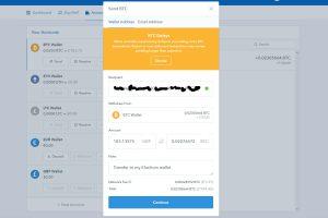 Coinbase Send BTC screen (Image: Bitcoin Investors.co.uk)