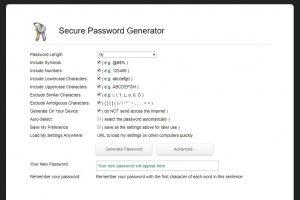 Random Password Generator settings (Image: Bitcoin Investors UK)