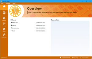 SolarCoin Wallet - Overview (Image: Flippener)