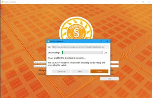 SolarCoin Wallet Synching (Image: Flippener)
