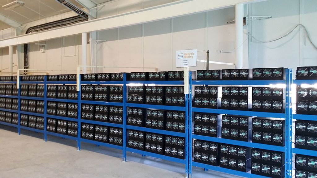 Cryptocurrency Mining Farm (Image: M. Krohn/Wikimedia)