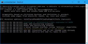 CC Miner Screen - startup (Image: BIUK)