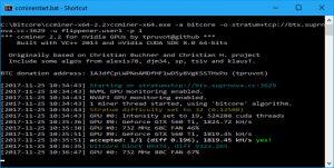 CC Miner Screen - startup 2 (Image: BIUK)