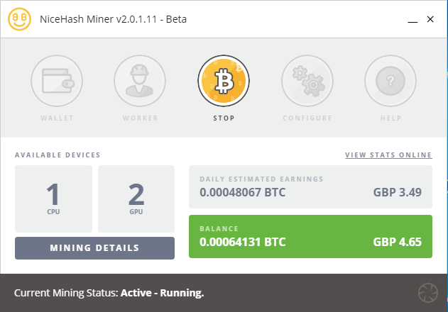 Nicehash Mining with The Beast February 2018 (Image: BIUK)