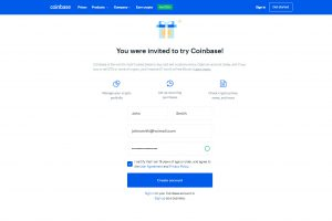 Opening a Coinbase account (Image: Bitcoin Investors UK)